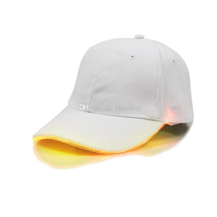 Moda bambini grandi berretti da baseball con cappuccio a LED in cotone donna, cappello da baseball a forma di berretto da baseball