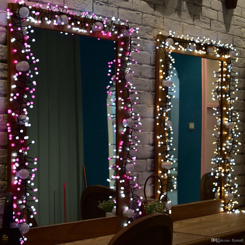 10ft 400 LED Globe Étanche Fée String Lights LED Flash Strings avec 8 modes d'éclairage pour Mariage Extérieur / Intérieur Chambre Partie De Noël