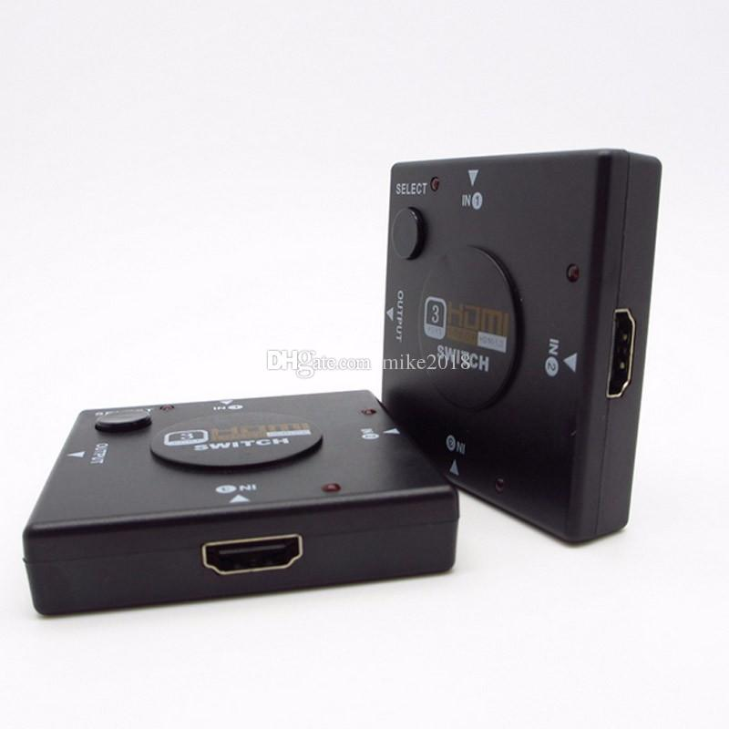 Full HD 1080P Mini 3 puertos HDMIv1.3 Puerto HDMI Switcher Switcher Vedio Splitter Amplifier para DVD PS3, Xbox 360