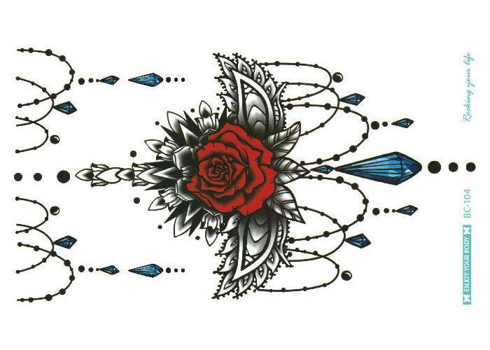 Körperkranz reizvolles tatuagem Taty reizvolle Schönheit temporäre Tätowierung heiße Sun-Blumen-Rückseiten-Körper-Tätowierung-Aufkleber 24 x 13.8cm