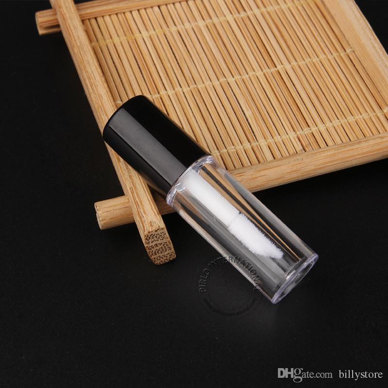0.8ml Mini Boş Şeffaf Dudak Parlatıcı Tüp - plastik Dudak Balsamı şişesi - Boyut: 5.0x1.3cm Seyahat Doldurulabilir Ruj Numune Kabı - Toptan
