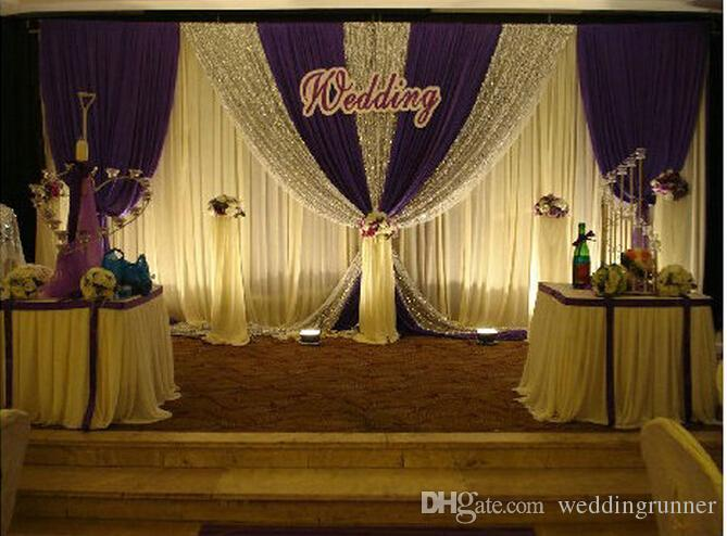 Wedding decoations 3m6m white color wedding backdrop curtain with wedding decoations 3m6m white color wedding backdrop curtain with silver sequin fabric for wedding stage backdrop props supplies western wedding decor thecheapjerseys Image collections