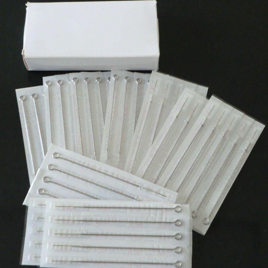 7RS * 50 runda skuggare professionell tatuering steriliserad nålar detaljhandel tatuering nålar leverans