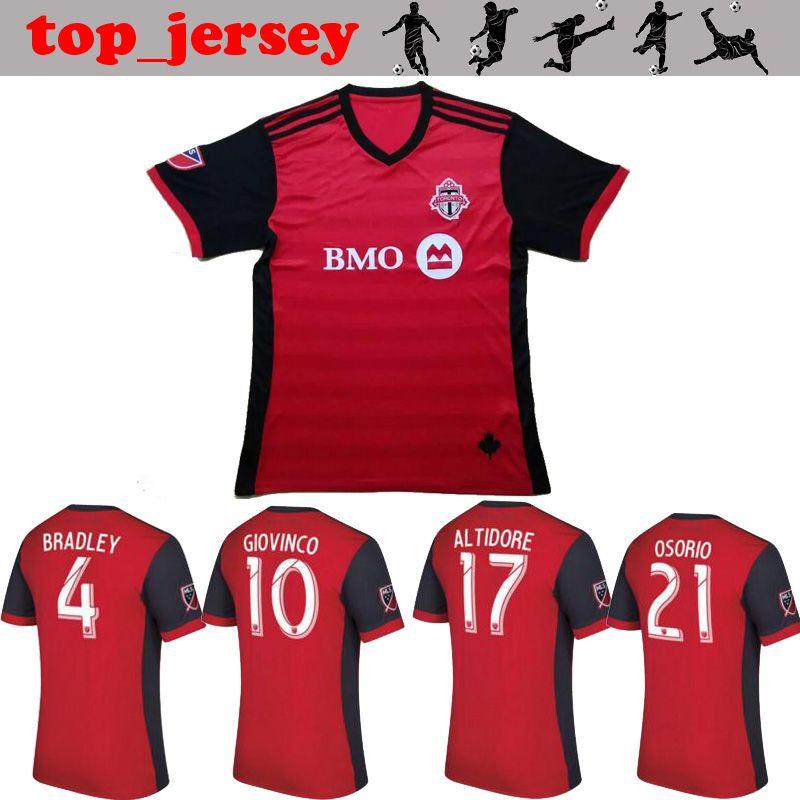 3809bed94 ... Soccer Men Short Toronto FC Soccer jersey Thai quality 2017 BRADLEY  GIOVINCO OSORIO ALTIDORE jersey 17 ...