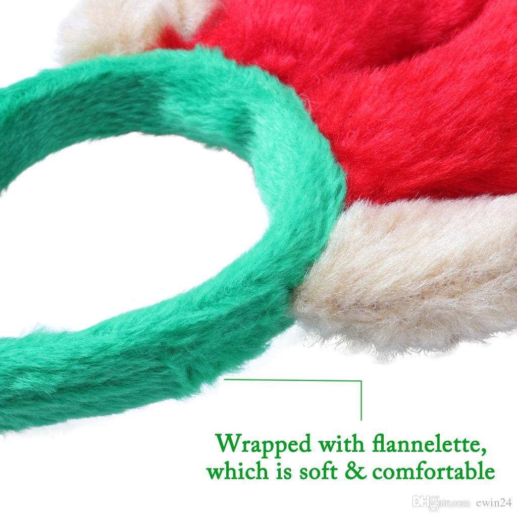Cute Pet Рождественский олень рога оголовье партия Prop Украшения для собак Cat Короткая плюшевая материал украшения подарки