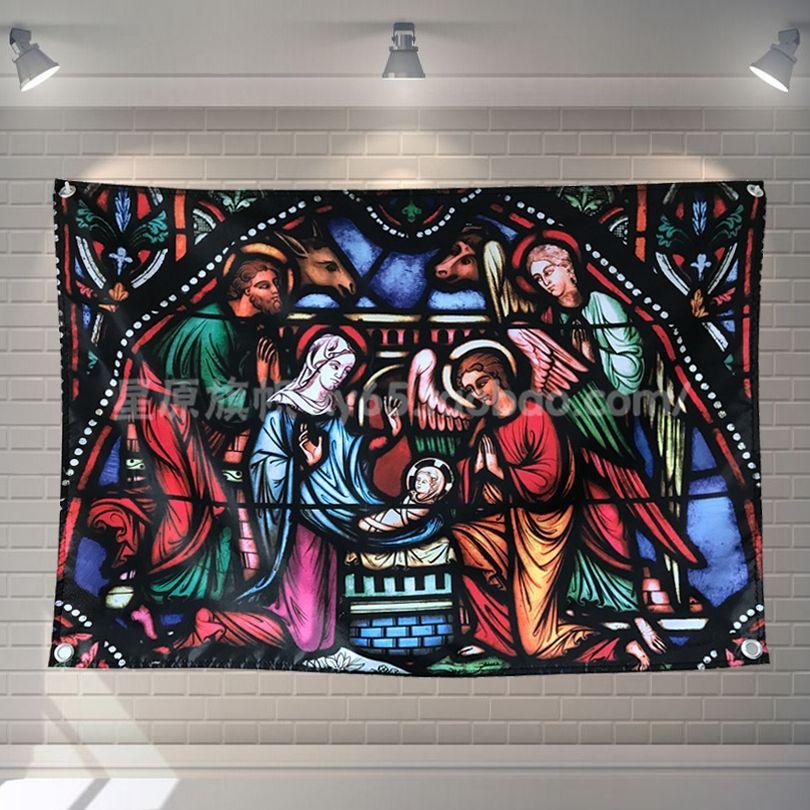 Großhandel Jesus War Geboren Retro Poster Banner Schlafzimmer Modellierung  Studio Wanddekoration Hängenden Vorhänge Stoff Polyester Stoff Flags Von  Losico, ...