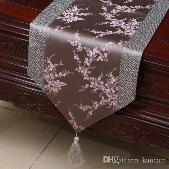Chinese Classical Table Runner Tablecloth Dining Table Bed Bed Towel  Cabinet Table Cloth Tea Table Cloth Gray Plum Blossom Tablecloth Dining  Table Flag ...