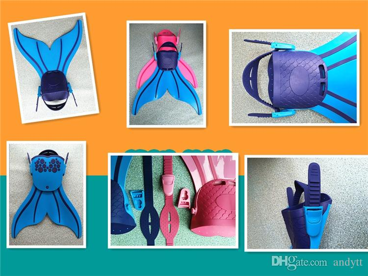 New Fashion Adjustable Mermaid Swim Fin Diving Swimming Foot Flipper Fin Swim Training For Kid Children Christmas Gift GB003