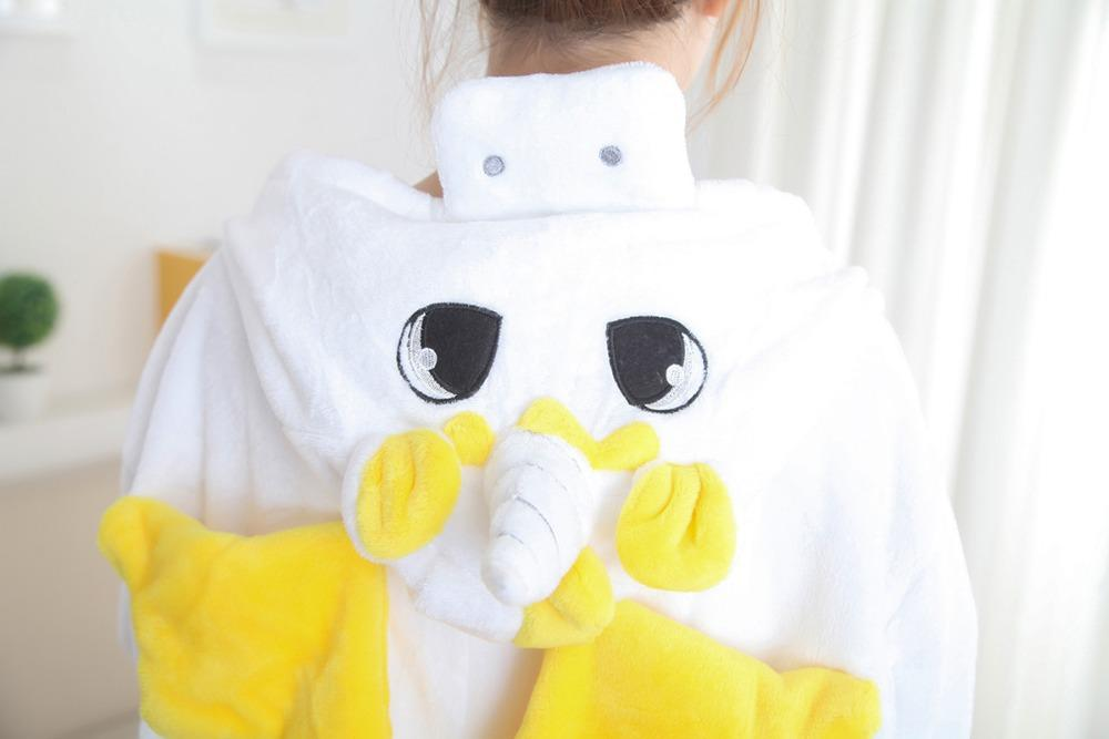 c731f344b523 2019 Wholesale Yellow Powder Blue Unicorn Bear Kangaroo Adult Animal Pyjamas  Women Animal Pajamas One Piece Sleepwear Female From Silan