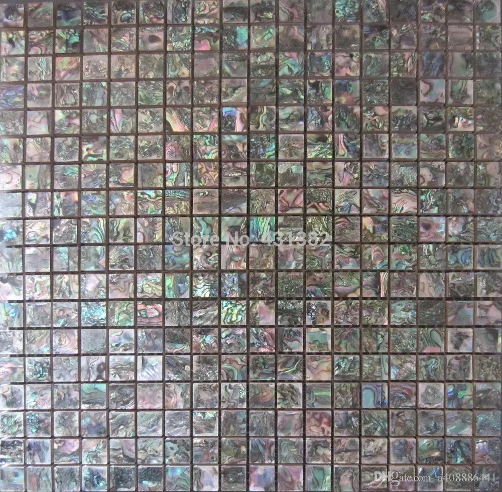 Green Abalone Shell Mosaic Tile Ceramic Tiles For Bathroommosaic