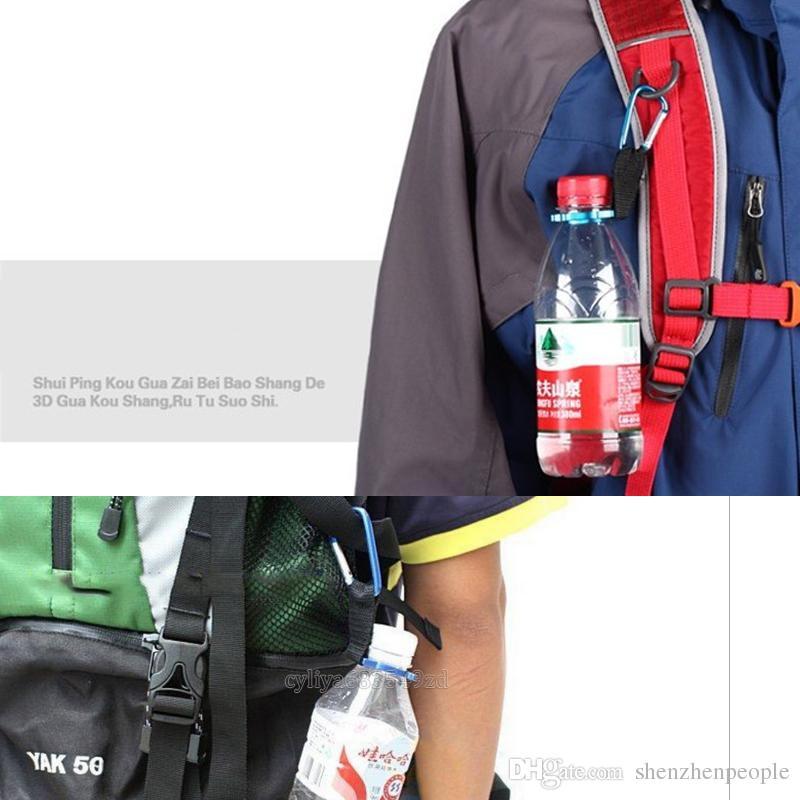 Camping Moschettone Bottiglia d'acqua Fibbia gancio Holder Clip di campeggio esterna Escursionismo sopravvivenza strumenti di viaggio