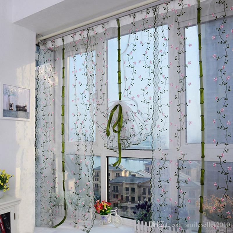 2018 Pastoral Drawstring Blackout Curtains Decorative Living Room Drapes Roman Blinds Door Curtain Shade Ji0336 From Smileseller2010