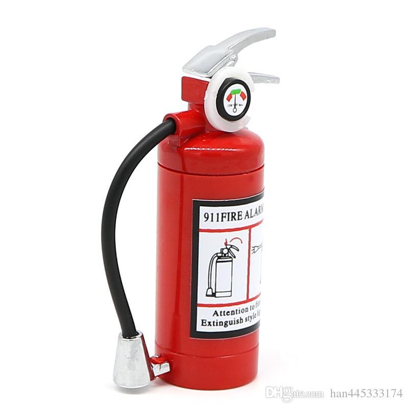 Mini-Feuerlöscher-Stil geformt Butan Jet Feuerzeug für Zigarre Zigarette mit LED-Taschenlampe nachfüllbar Kein Gas
