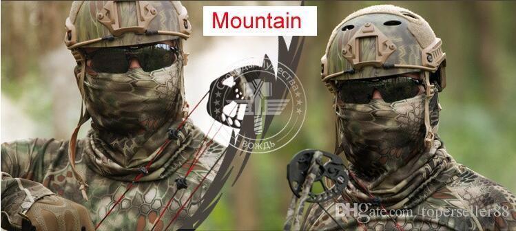 Taktik Şapkalar Bandanalar Wrap Açık Avcılık Airsoft Oyunu Bandı Kamp Yürüyüş Bisiklet Sürme Boyun Eşarp Yüz Maskeleri