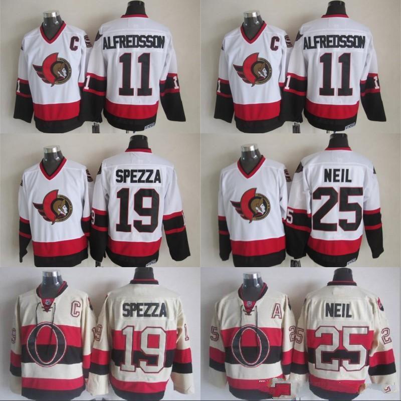 ... NHL daniel alfredsson jersey 2017 Captain C Patch 11 Daniel Alfredsson  Jersey Mens Ottawa Senators 6 Bobby Ryan 25 Chris ... ba3706ab2