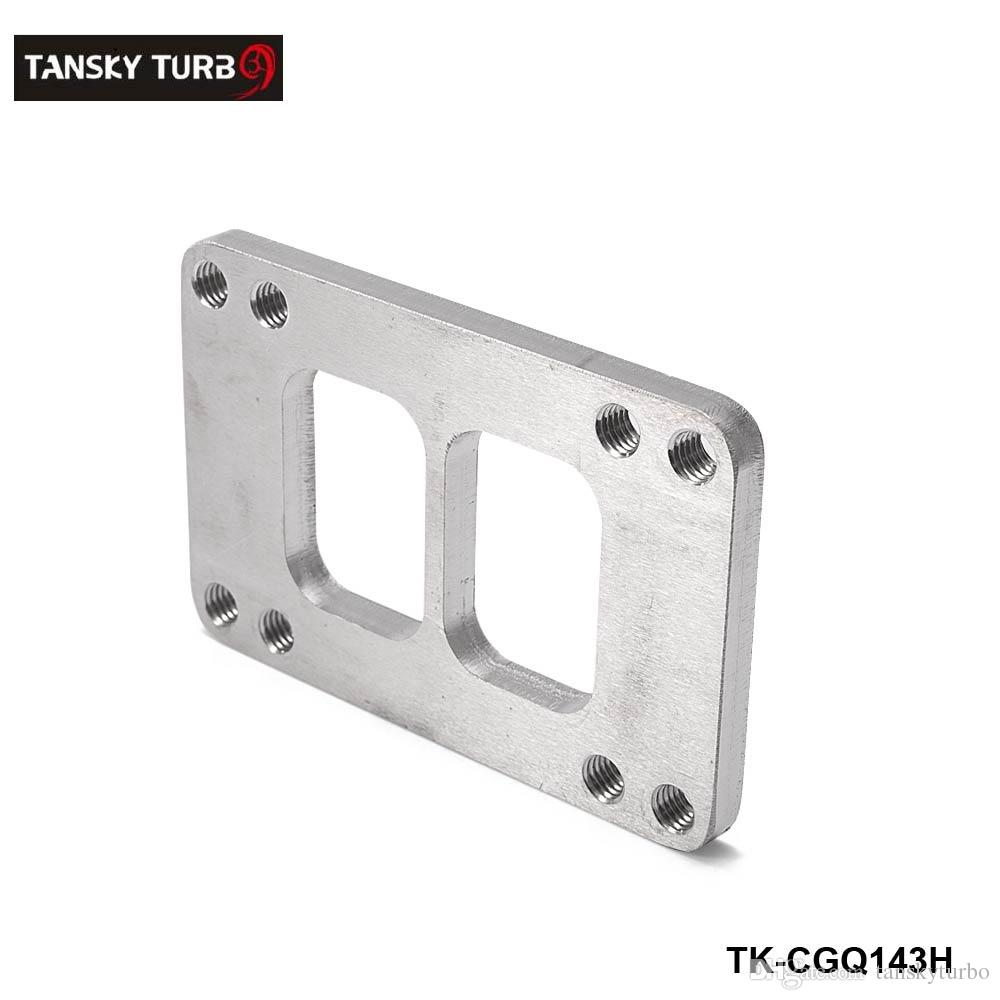 TANSKY - NEW Turbo Manifold Flange SS Steel adapter T6 to T4 Divided  Exhaust 8 Holes TK-CGQ143H