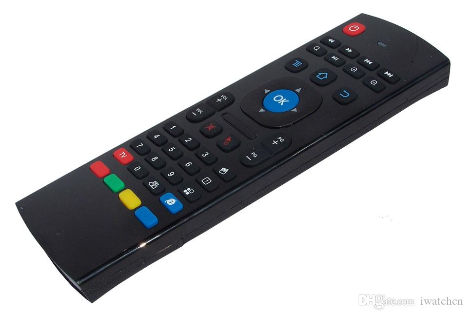 X3 MX3 T2 X8 нет микрофона мини 2.4 ГГц беспроводной гироскоп клавиатура воздуха мышь дистанционного G-сенсор гироскоп для STB Android TV BOX