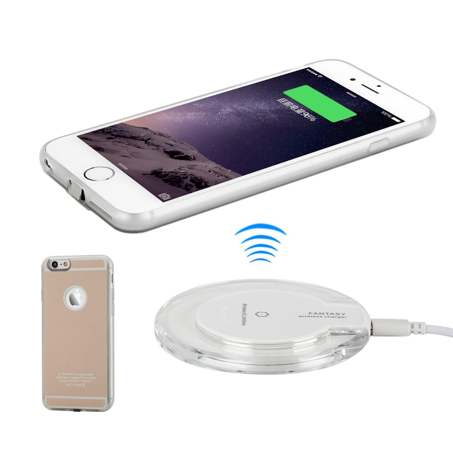 2019 for iphone 7 qi wireless charger phone case for iphone 6s 6 wireless charging receiver back. Black Bedroom Furniture Sets. Home Design Ideas