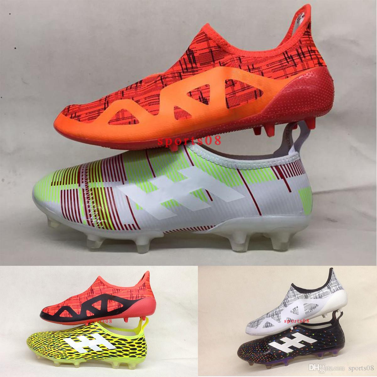 27b77d5ec 2017 New Arrival Original Soccer Cleats Glitch17 FG Football Boots Mens  Glitch Skin Top Quality Soccer Shoes Copa White Orange Green 39-45