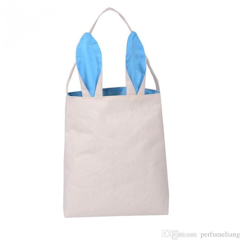 Neue Mode Osterhase Ohren Tasche Jute Tuch Material Geschenk Taschen Ostern kinder bonbonbeutel Ostern Handtasche Für Kind Feine Festival Geschenk