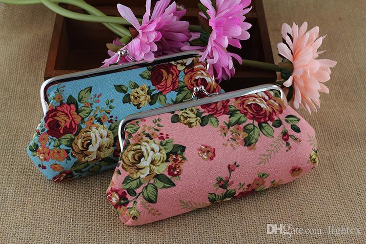 뜨거운 판매 꽃 장미 여자 귀여운 만화 동전 지갑 전화 가방 케이스 지갑 키 카드 주머니 올빼미 지점 패턴 Hasp Carteira