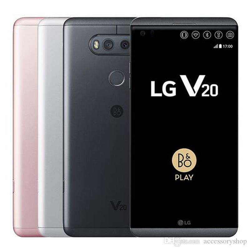 Refurbished Original LG V20 H990N H910 VS995 5 7 inch Quad Core 4GB RAM  64GB ROM 16MP 8MP 4G LTE Android Phone DHL 1pcs