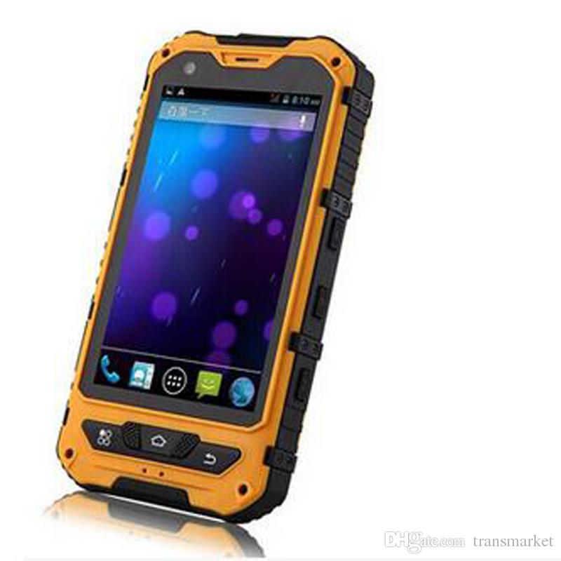 4.0Inch A8 phone IP68 Rugged Android Waterproof unlocked cell phone A8 MTK6582 Quad Core 1GB RAM 8GB Senior shockproof smartphone sealed b