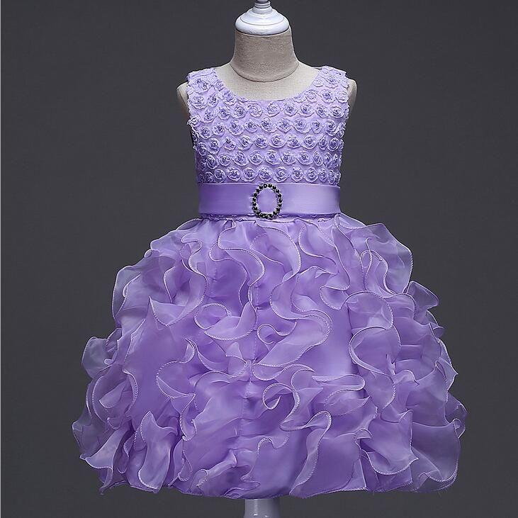 Compre Vestidos De Las Muchachas De Flor Para El Vestido Del Desfile ...