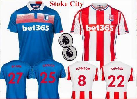 7a7cff829 JS-045- 2017 - 2018 StokHome Away Soccer City Jerseys 17 18 SHAQIRI BOJAN  ARNAUTOVIC DIOUF WALTERS Football Shirt Thailand Quality SHAQIRI Jersey  Stoke City ...