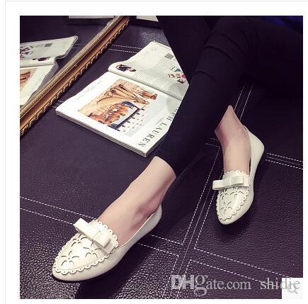 6fbc8a3b5dd Compre 2017 Primavera Nueva Pizza Femenina Zapatos De Fondo Plano Señaló  Pajarita Estudiante Zapatos Planos Mujer 35 40 Envío Gratis A  10.39 Del  Shidie ...