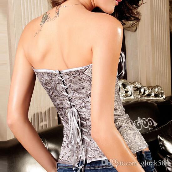 2017 New European style palace vest corset strapless strait body suit body sculpting clothing