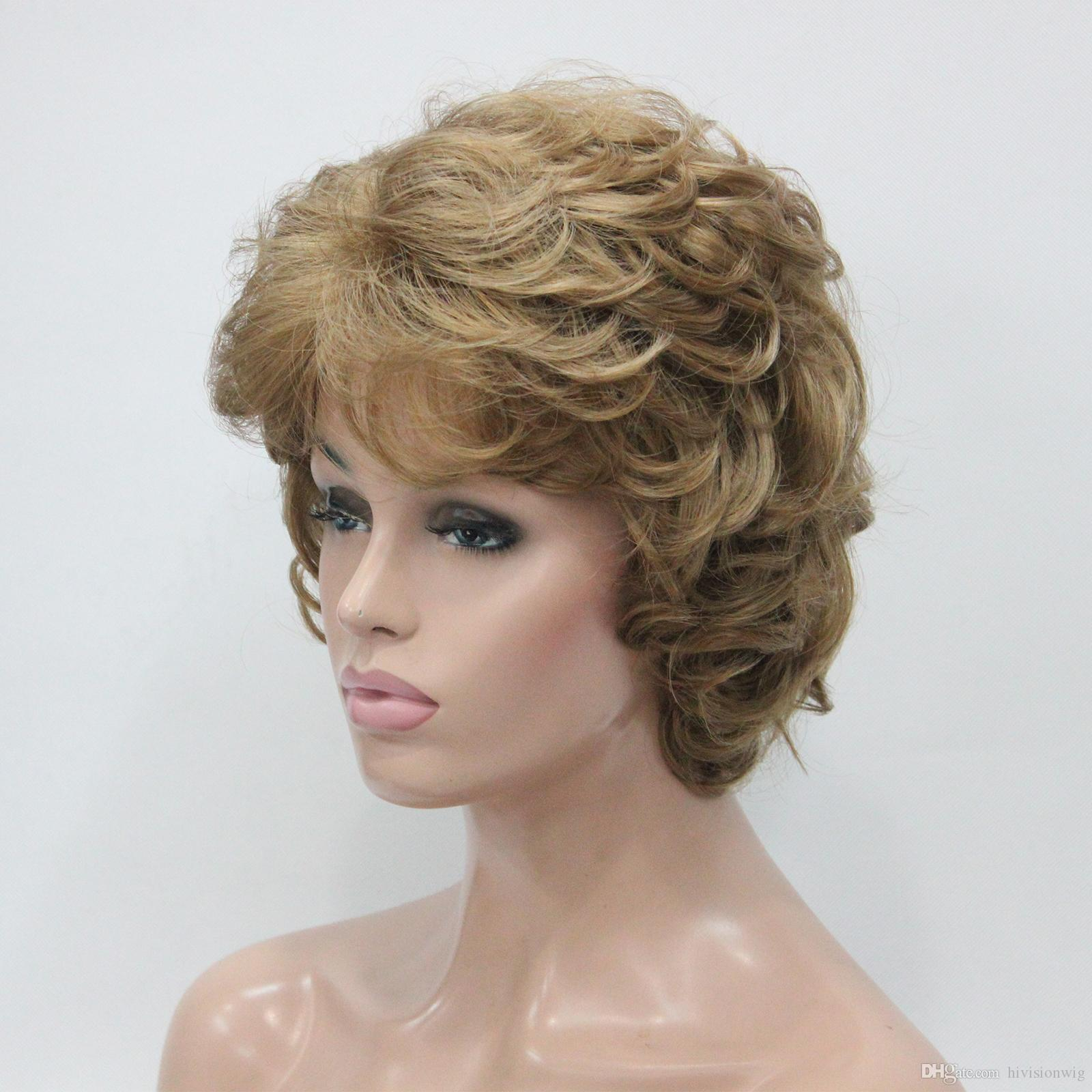 2017 New Fashion Health Fashion Light Strawberry Blonde Curly Womenu0027S Short  Wavy Wig For Every Day Wig Hair Wigs Synthetic Lace Wigs Uk Wig Online From  ...