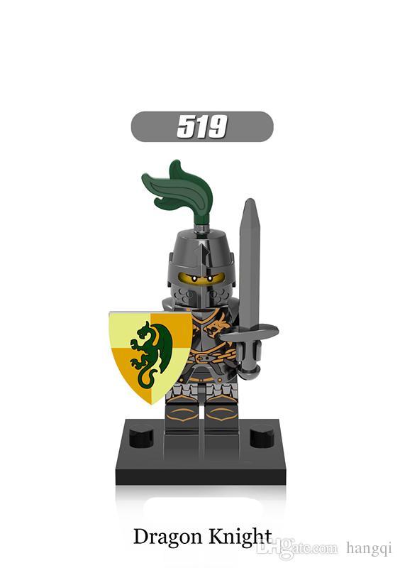 x0148 Medieval Knights Super Heroes Gladiatus kingdom knight frieghtening Dragon kinight Warrior Building Blocks bricks Toys
