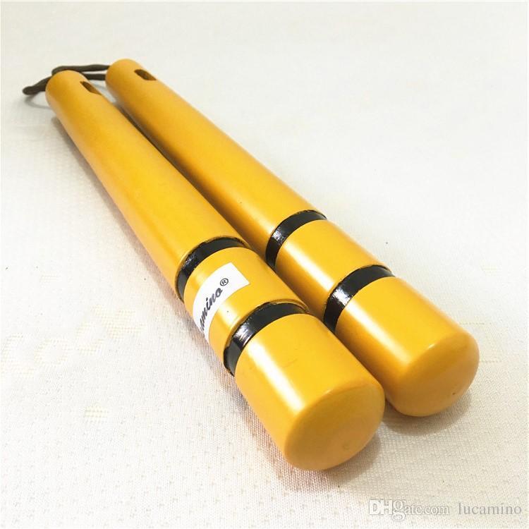 حار بيع جديد بروس لي أصفر خشبي فنون الننشاكو الصينية الكونغفو لعبت في فيلم حبل nunchunks للمبتدئين مع حقيبة