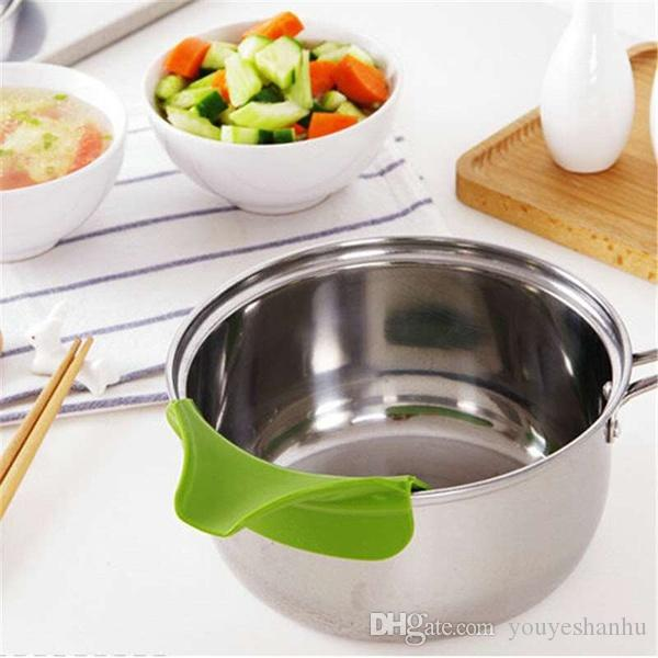 Кухонные гаджеты Anti-Spill Pots и Pans Round Rim Silicone Deflector Liquid Diversion Инструмент