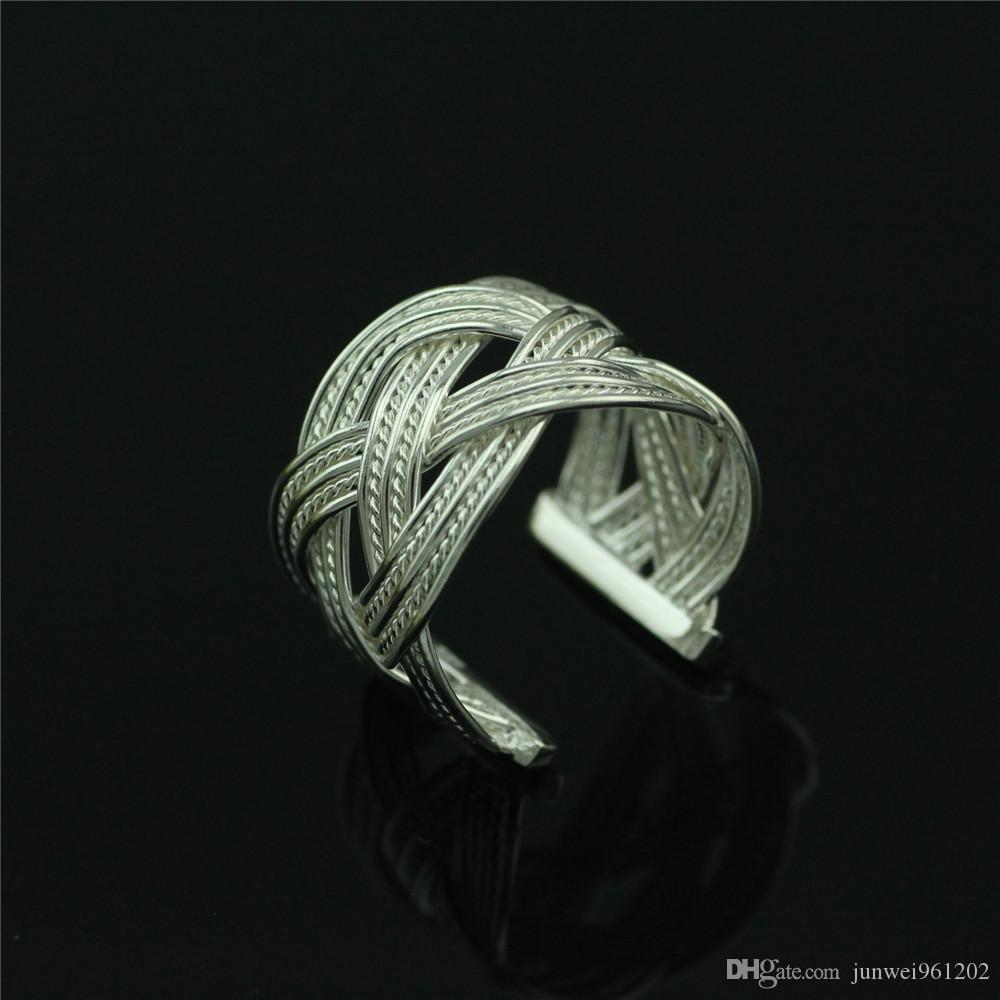 and new braided vichok from l stainless rings quality ring steel hot simple top knitted wide style product pattern