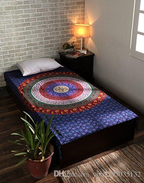 핫 세일 보헤미안 만다라 태피스 트리 고 블렝 공중 벽 카펫 인쇄 폴리 에스터 홈 장식 벽 히피 테이블 천으로 침대보 148x200cm