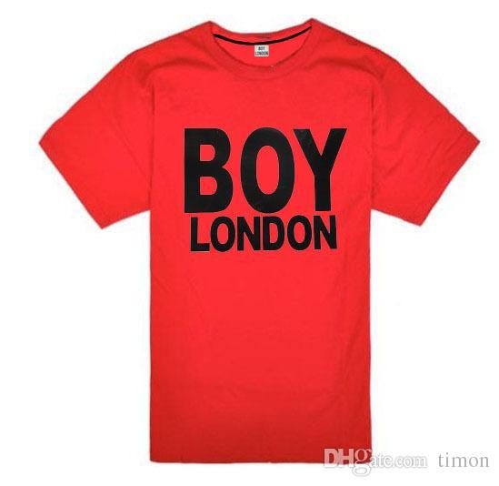 2018 Wholesale fashion Women men BOY LONDON printed short sleeve cotton t shirt Plus size casual-shirt