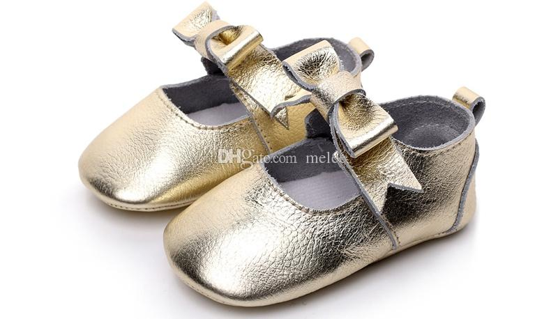 XMAS INS Toddler Genuine Cow Leather Infant Girls Big Bow Princess shoes soft sole casual girl baby indoor walking sneakers shoes prewalker