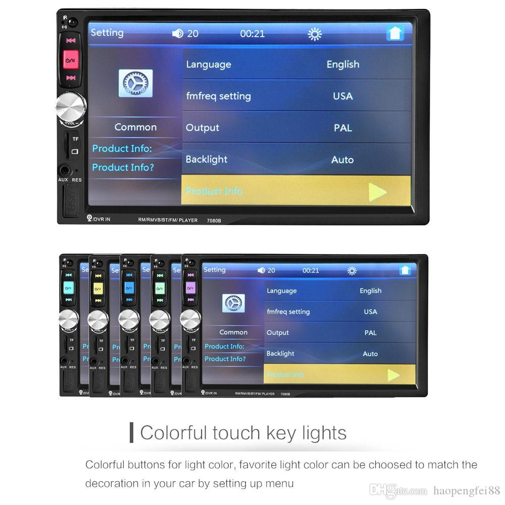7010B MP5 Player 7inch Car Radio Bluetooth V2 0 Car Stereo HD Touch Screen  SD MMC USB FM MP3/MP4 Hands-free Call Car DVD funcation