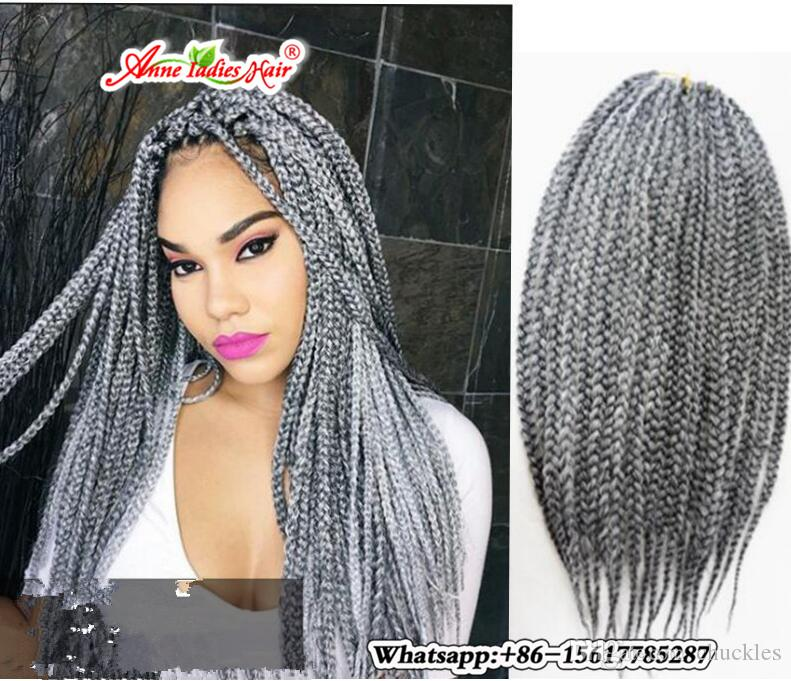 Hand Made 16s Crochet Box Braids Hair 16 16 16 16 Inch Long Crochet ...