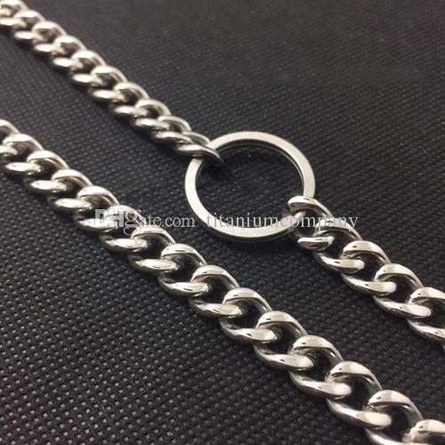 Чистый титан личная защита цепи панк панк брюки украшения 600 мм длиной антикоррозийные с карабином кольца