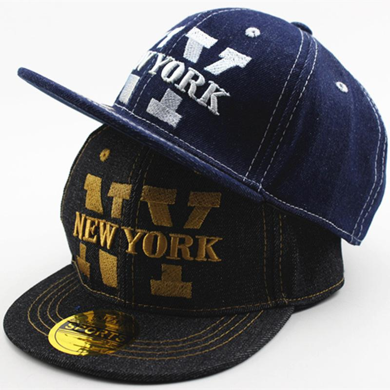 82a87e784ef Embroidery New York Kids Denim Caps Boys Baseball Caps Summer Jean Hats  Children Caps Girls Baseball Cap 3 8 Ages Baby Hat Gorras Hats And Caps  Skull Caps ...