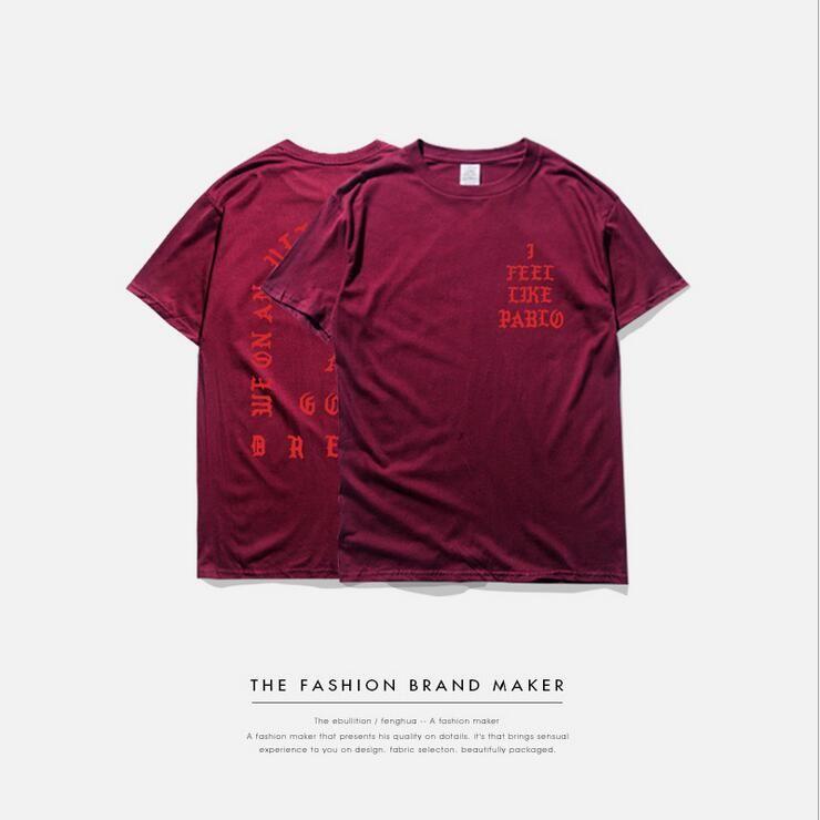 Tee shirt Homme SAISON 3 Je me sens comme un pablo Tee-shirt à manches courtes T-Shirt à col rond Kanye West Lettre Impression