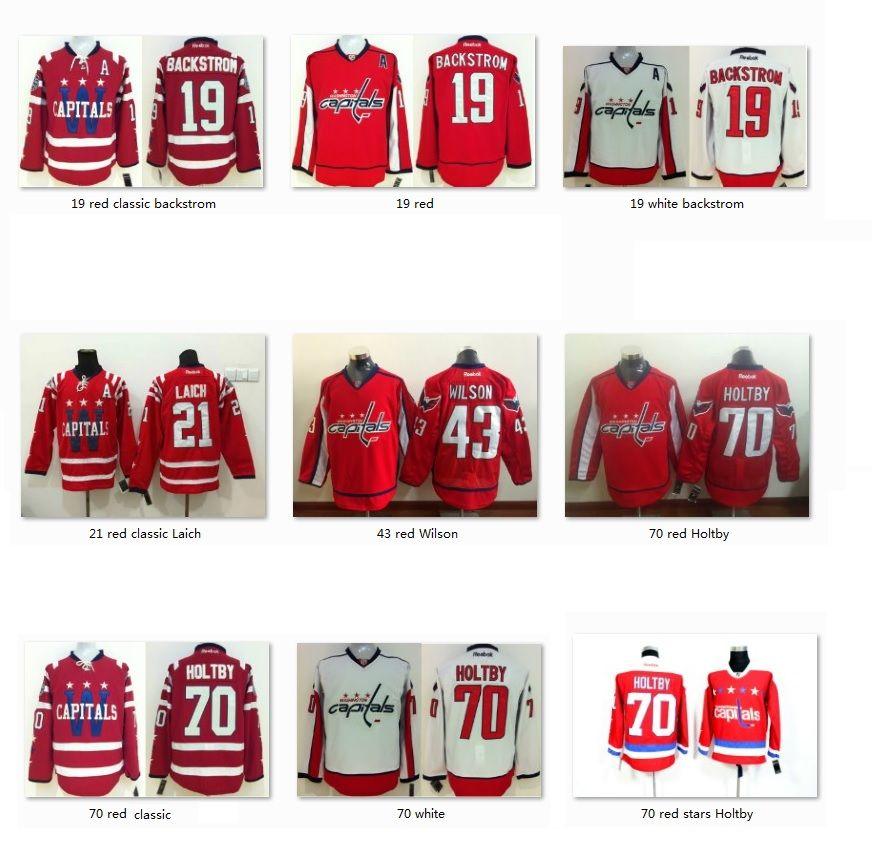 60b6abbd2f6 ... Caps 2015 Bridgestone NHL Winter Classic® jersey 2017 Men Hockey Ice Jerseys  Nicklas Backstrom 19 Laich 21 Wilson 43 Nraden Holtby 70 Washington ...