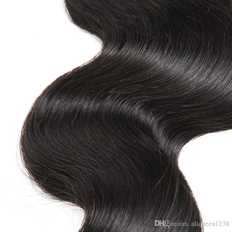 8A Unprocessed Human Hair Brazilian Body Wave Sew In Soft and Thick Virgin Hair Extensions 100g 10-30inch Remy Human Hair Weave Bundles
