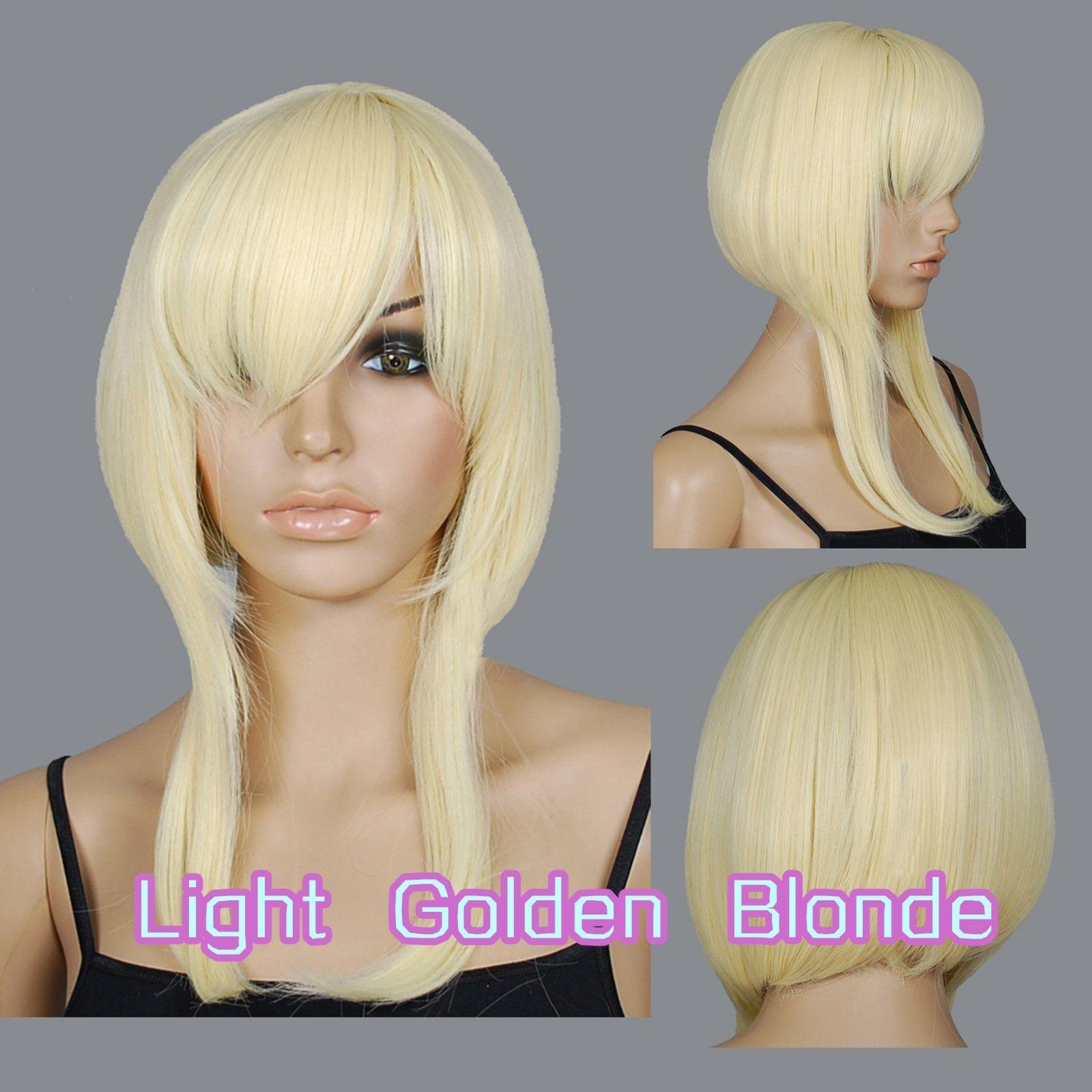2018 40cm Light Golden Blonde Heat Styleable Layered Blunt Cut Cosplay Wigs  73_lgb From Dong1227, $22.49 | Dhgate.Com