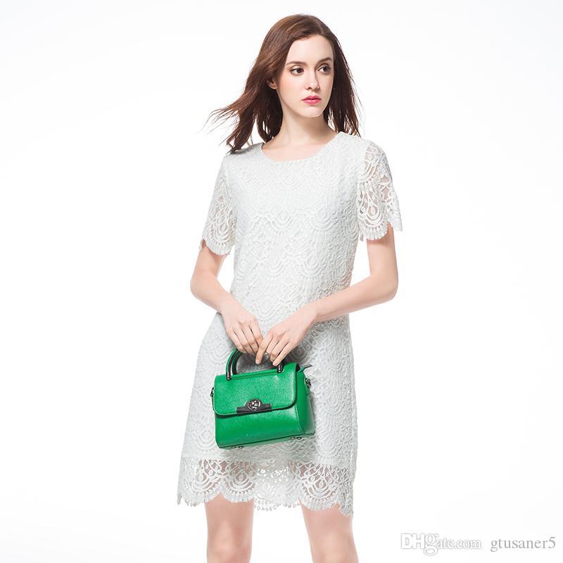 Womans Clothing Plus Size Dresses Casual Lace Dress White Color