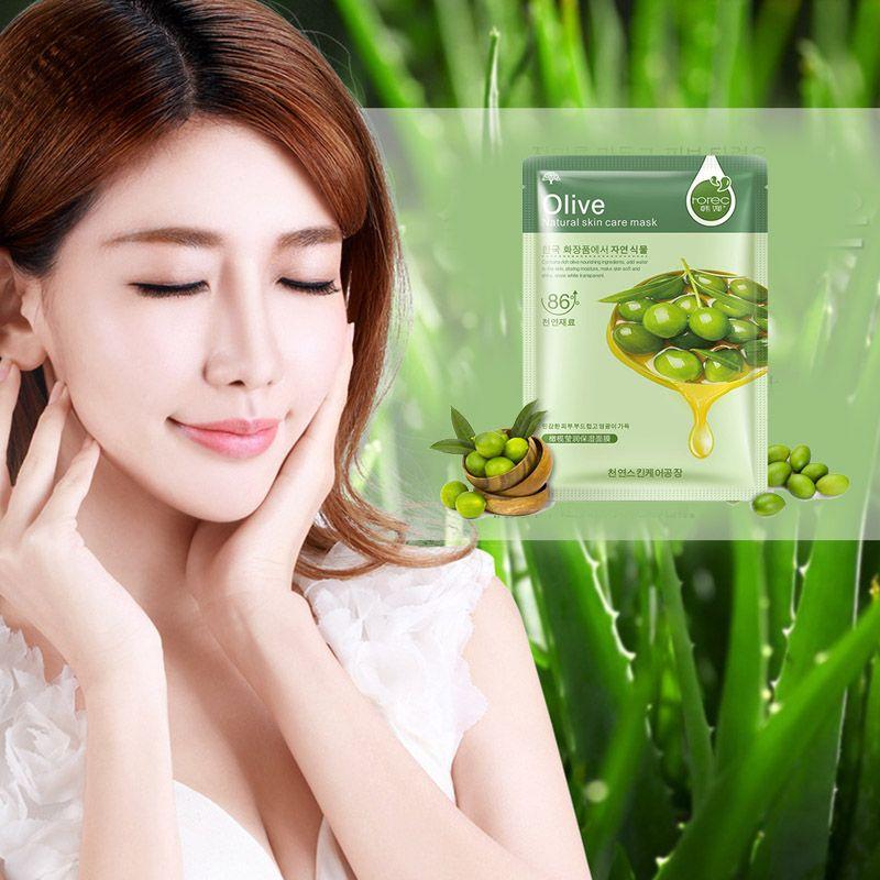 Cura della pelle delle piante Maschera il viso idratante Oil Control rimozione di comedone Mask Avvolto Maschera Viso 0611048