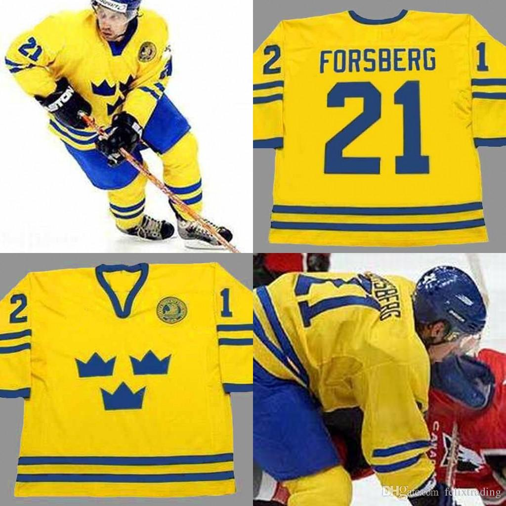 cf98195e9 2019 21 PETER FORSBERG Team Sweden Hockey Jersey Men Stitched Hockey Jerseys  Gold Size S 5XL From Felixtrading, $22.34 | DHgate.Com